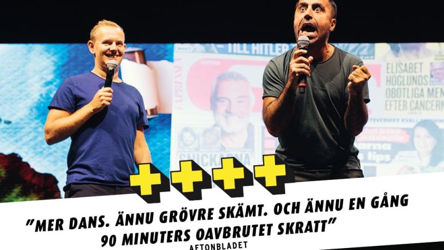 SUCCÉ - STÅENDE OVATIONER - 4 PLUS för Özz Nûjen och Måns Möller