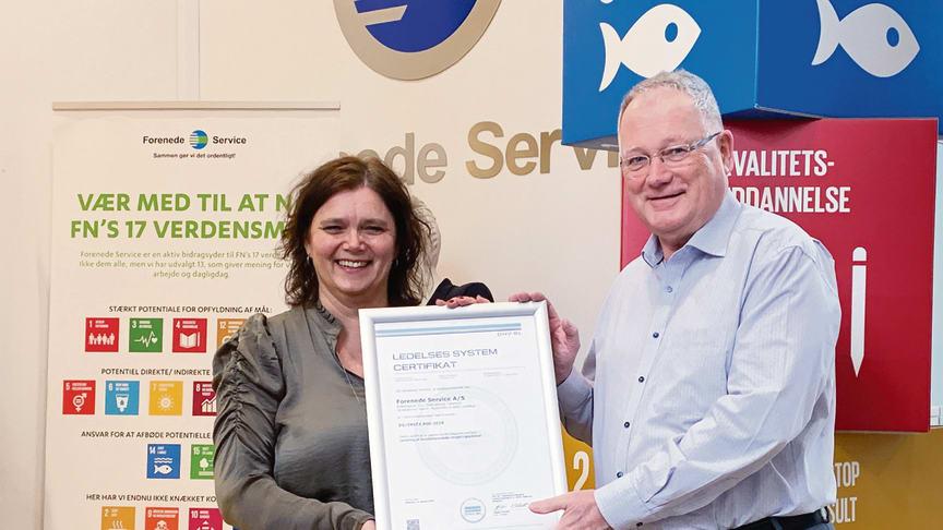 Forenede Service er nu virksomhedscertificeret i rengøringsstandarden INSTA 800