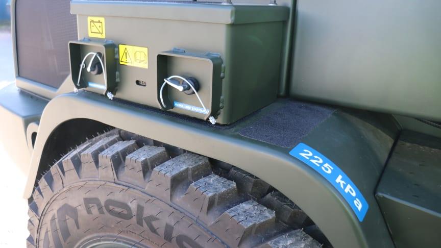 Volvo hjulastare L35G - avskiljare batteri FMV