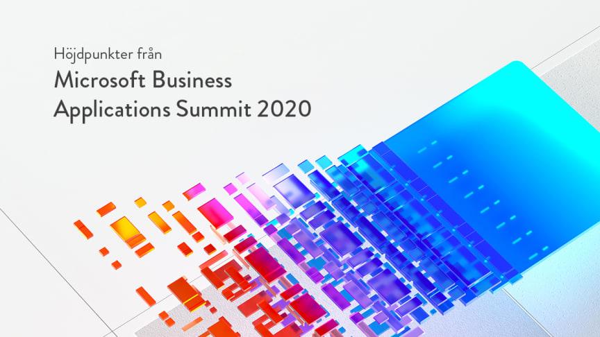Höjdpunkter från Microsoft Business Applications Summit 2020