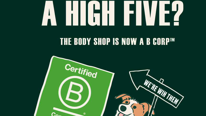 The Body Shop klara för global B Corp-certifiering!