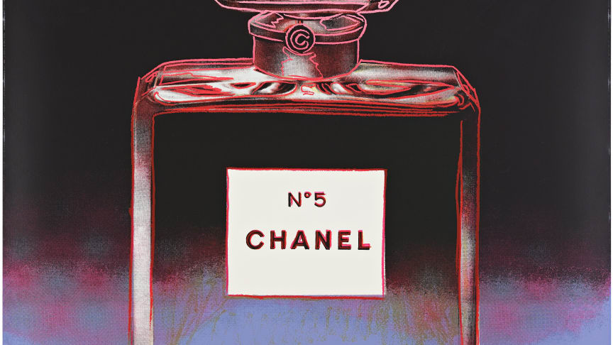 "Andy Warhol, ""Chanel"" ur ""Ads"". Säljs på Bukowskis Contemporary Art & Design 17 juni."
