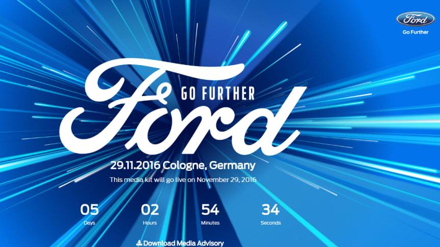"""Ford Motor Company afholder traditionen tro """"Go Further-event"""", hvor man præsenterer alt det nye og spændende, som Ford har at byde på. I år er en af de helt store nyheder, den helt nye Ford Fiesta, der blandt andet kommer i en Vignale-udgave."""