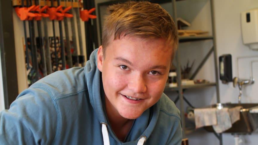 Lars Erik Brustad (15) kommer til å velge yrkesfag neste skoleår.