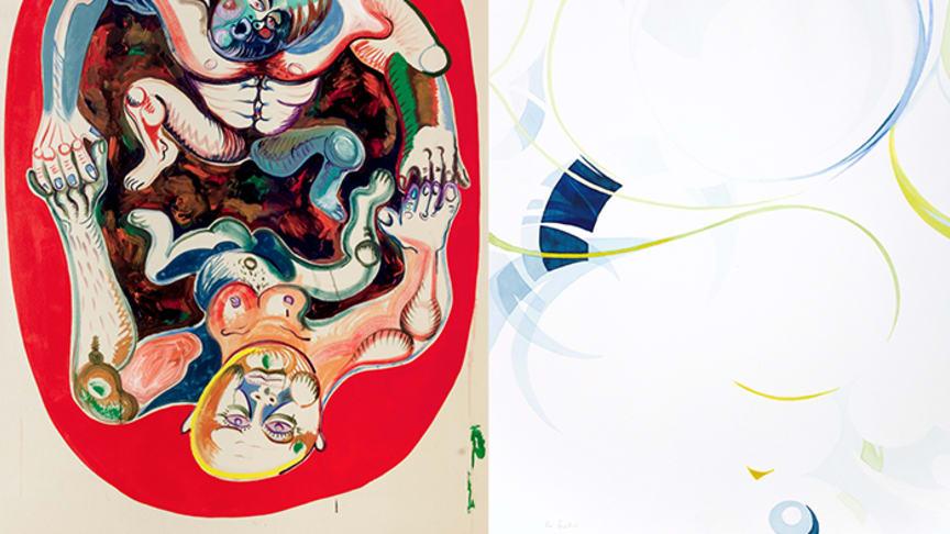 Bildmontage med verk av Mark Frygell och Magdolna Szabó