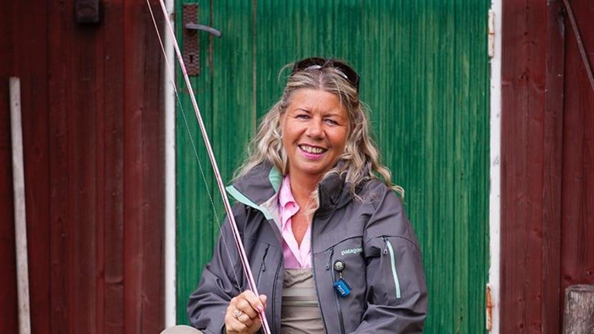 Sivan Jansson, storfiskare som deltar på Sportfiskemässan 2020