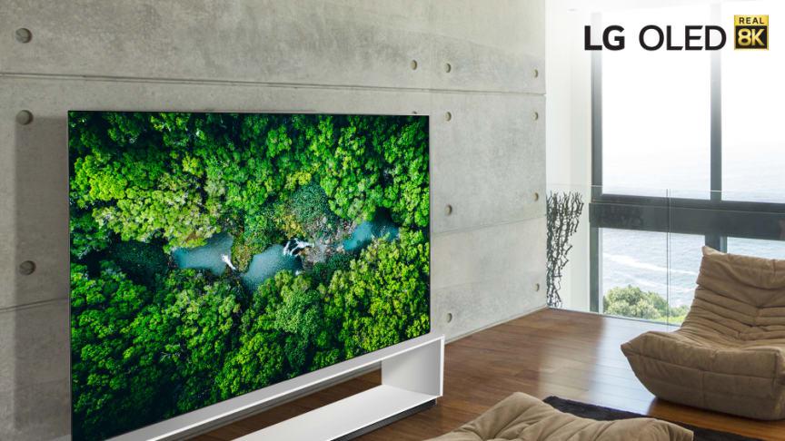 LG presenterer nye TV-modeller med ekte 8K og neste generasjons AI-prosessor under CES 2020