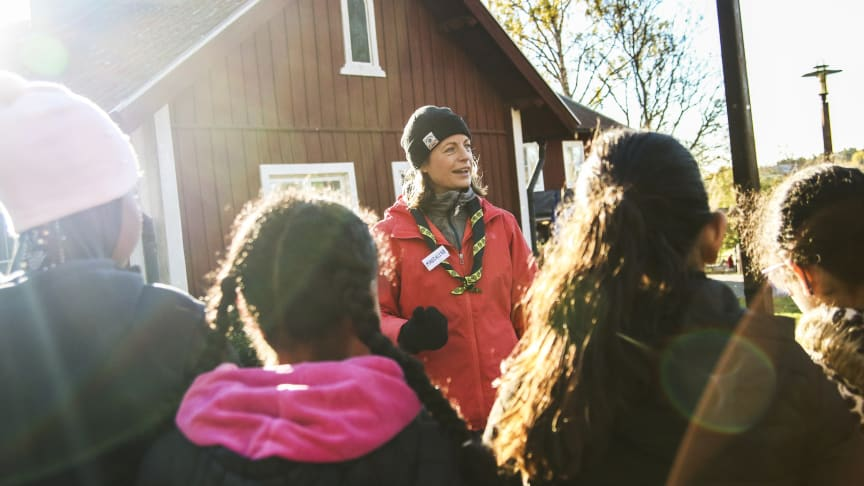 Scouterna anordnade friluftsdag för skolbarn i Husby