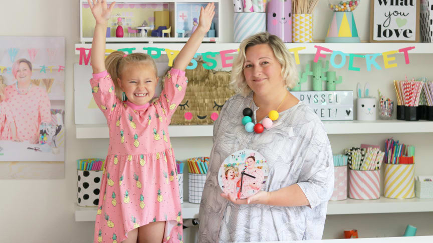 Kreativa Karin och dottern Lena kommer synas mycket tillsammans med smartphoto under hösten