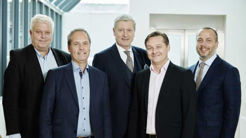 Management at LK: Dan Paradell, Mats Larsson, Magnus Eriksson, Michael Söderberg and Anders Johansson