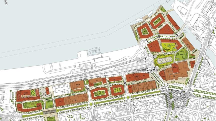 Illustrationskarta över planområdet. Bild: Kanozi Arkitekter