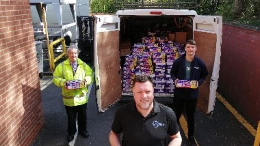 Donation of product to Geoff Horsefield Foundation
