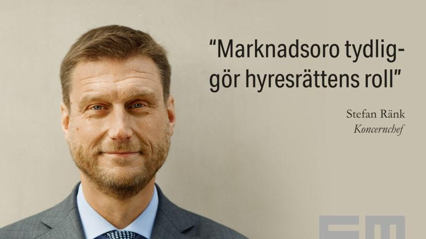 Marknadsoro tydliggör hyresrättens roll, säger Einar Mattssons koncernchef Stefan Ränk