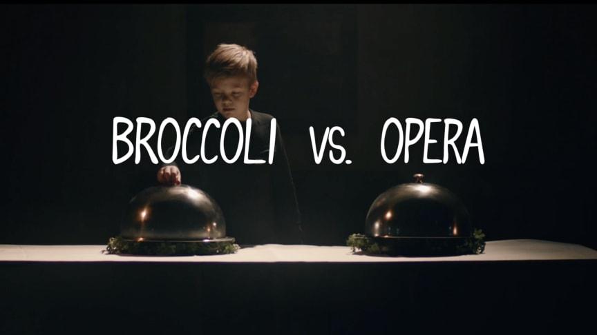 Hur kan broccoli locka barn att gå på opera?