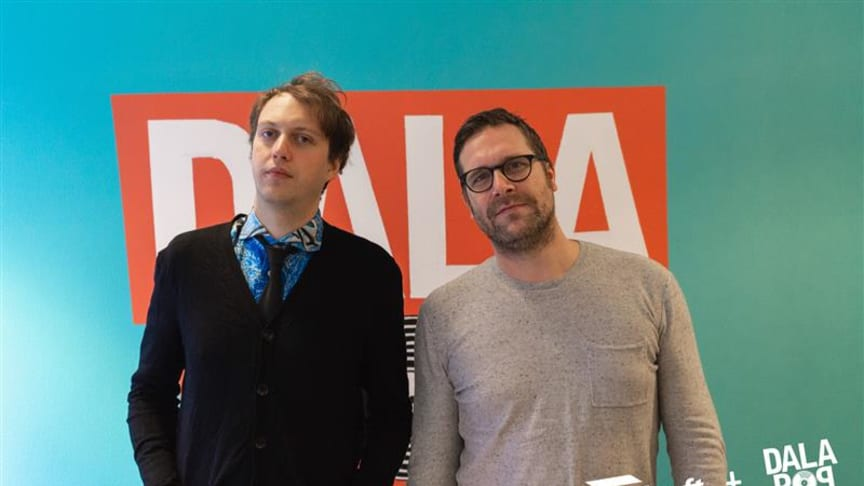 Pelle Andersson och Daniel Olsson grundare och verksamhetsledare för Dalapop