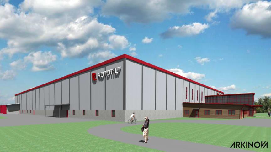 Utbyggnationen av Rototilts fabriken går nu in i fas II