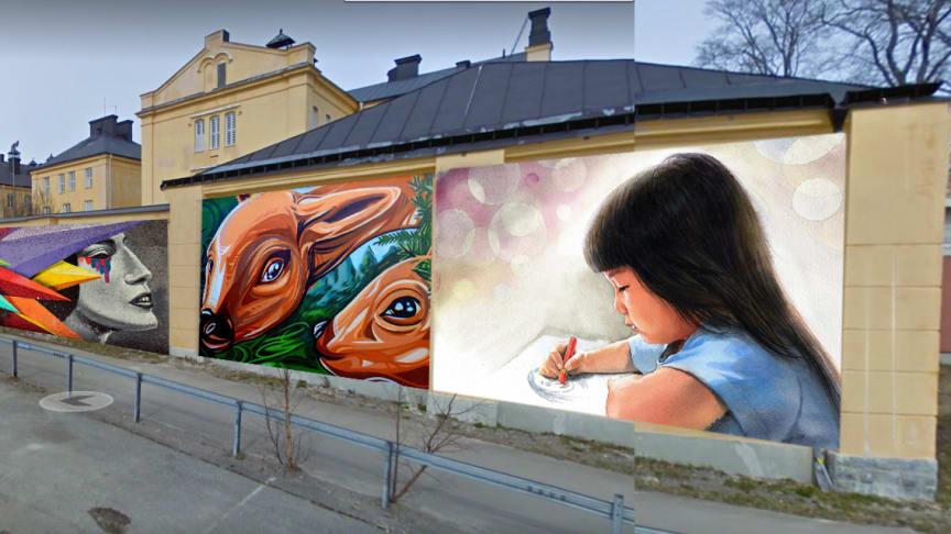Fotomontage, Öppen vägg i Härnösand.