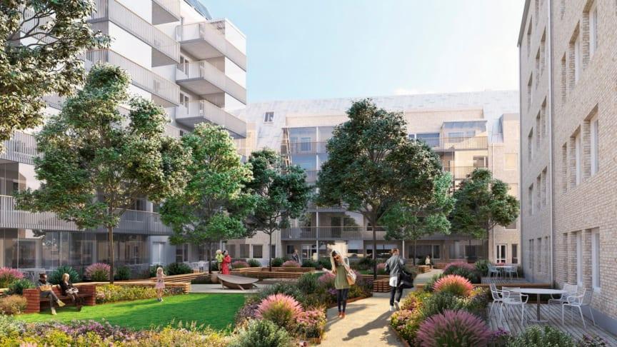 Riksbyggens Brf Munkebäcksäng kommer att innehålla 79 bostadsrätter.