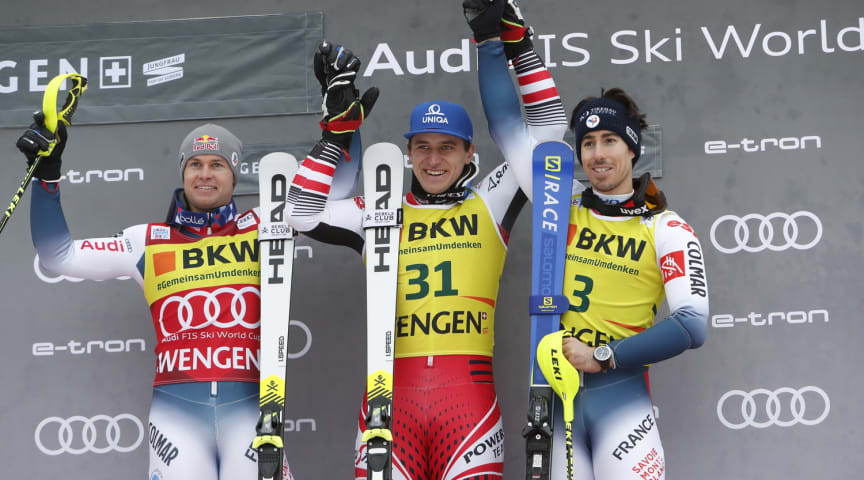 Two victories for the HEAD World Cup Rebels in Wengen