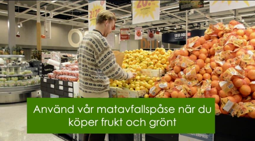 Testprojekt med matavfallspåsar i butik föll väl ut