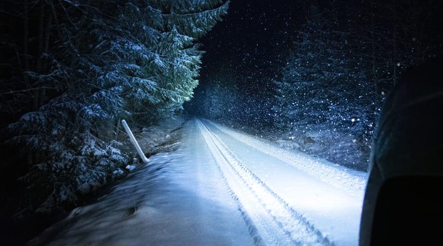 Bra extrabelysning ökar sikten och säkerheten på vägen
