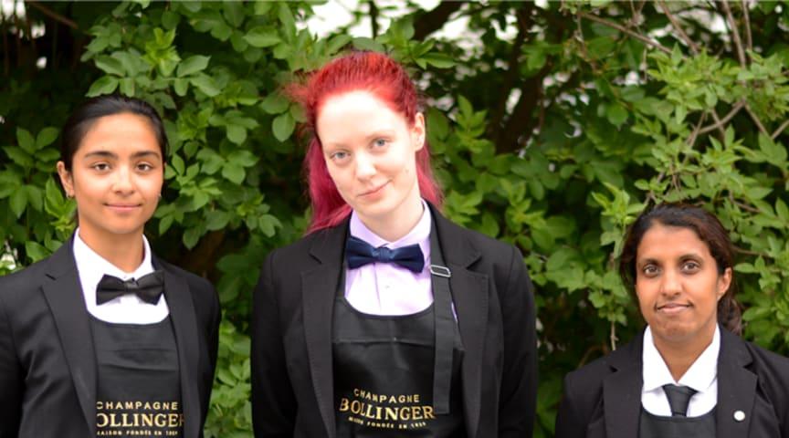 Från vänster: Mio Bloom, Maja Hempel och Victoria Andersson
