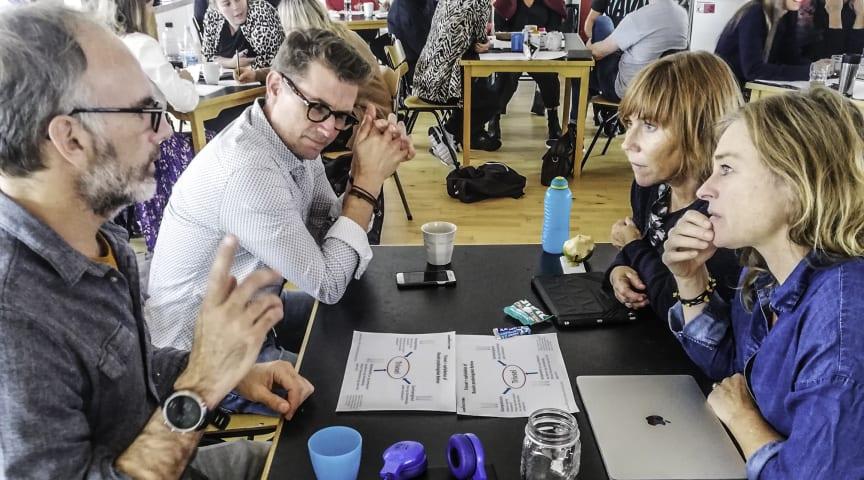 """Lærere fra Kochs Skole i Aarhus til en af de pædagogiske dage omhandlende """"faglighed på Kochs Skole"""""""