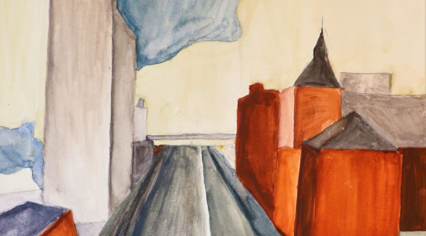Esbjerg kommer med til søs ombord 'Esvagt Dana' igennem malerier malet af Kulturskolens elever.