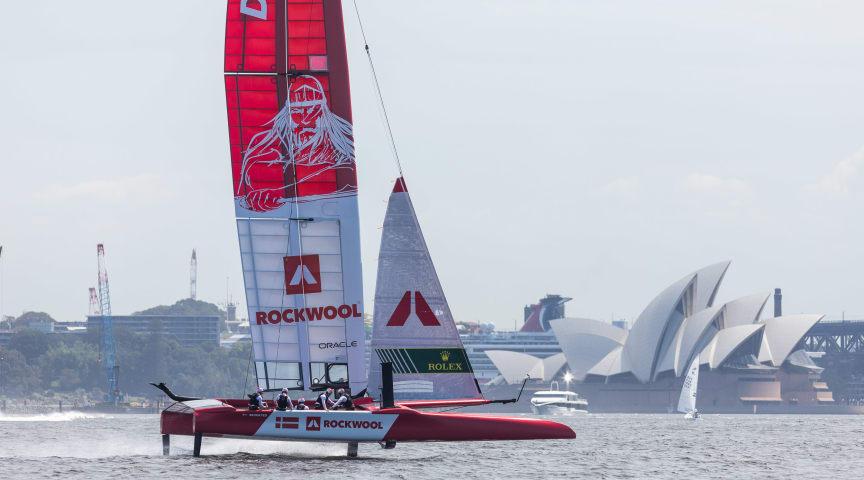 Holger Danske er med det danske SailGP-hold, når starten går i Sydney den 28. februar