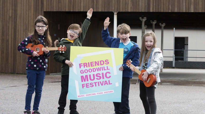 Young stars from The Music Yard in Larne looking forward to sharing the bill with Hothouse Flowers and Eddi Reader at the Friends' Goodwill Music Festival in May