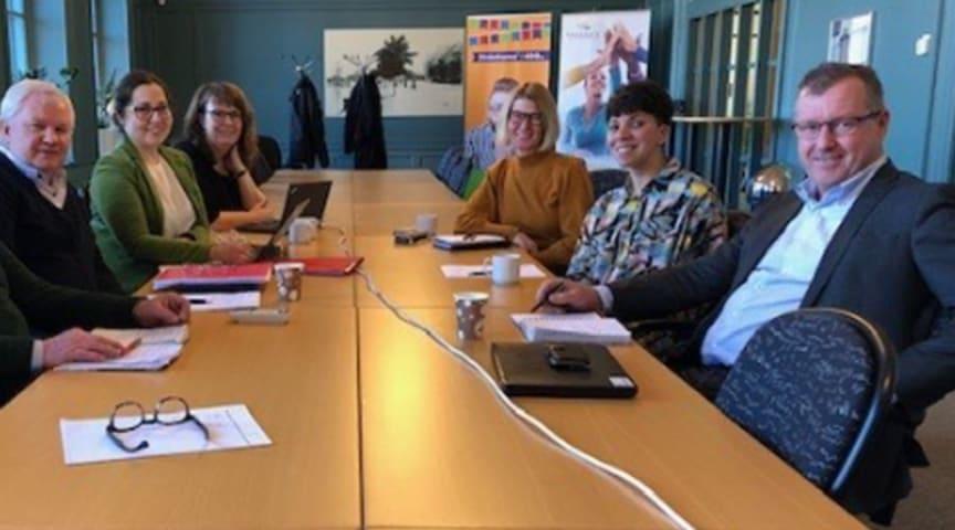 Representanter från Movexum, Faxe Park, Söderhamns kommun och Region Gävleborg på det inledande inledande möte i februari gällande samarbetet av innovativa idéer