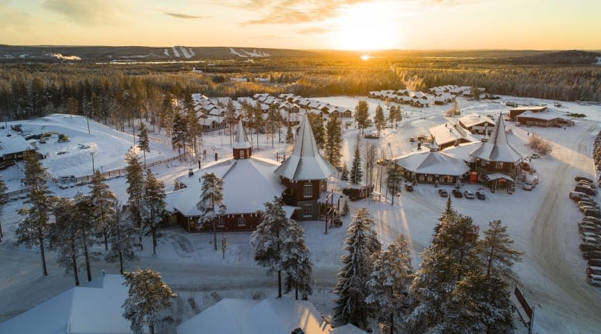 Santa Claus Office is closing the doors from visits here on the Arctic Circle