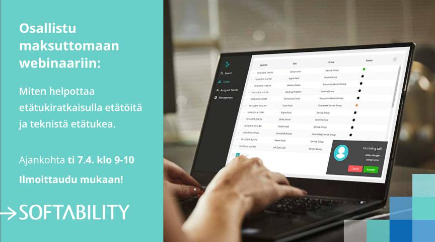 Webinaari 7.4.2020 - Miten helpottaa teknistä etätyötä ja etätukea asiakaspalvelussa, asennuksessa tai huollossa