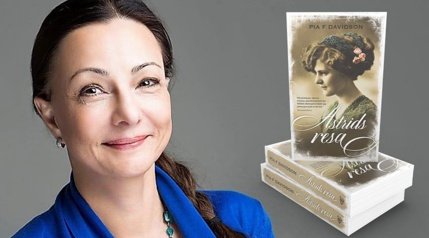 "Pia F Davidson med nya boken ""Astrids resa"""