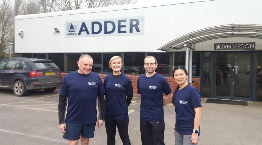 Team Adder in training for the Cambridge Half Marathon