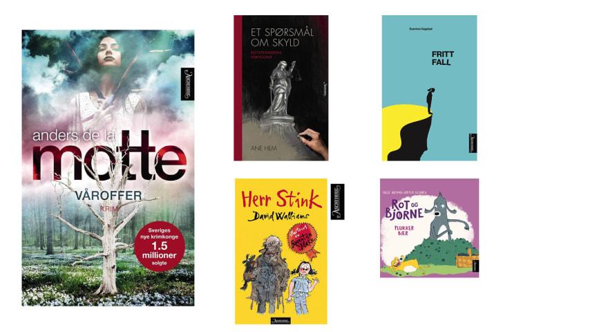 Nye bøker fra Aschehoug forlag uke 12