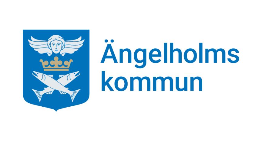 Ängelholms kommuns reviderade logotyp. Den och den grafiska profilen ska upp till beslut i kommunfullmäktige den 24 juni.