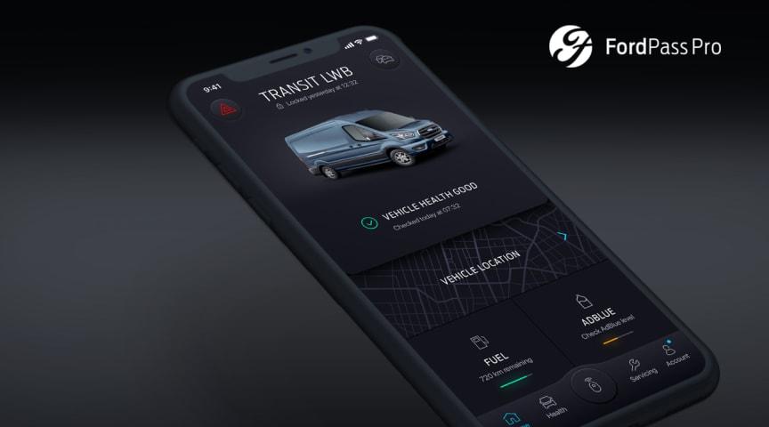 Ny FordPass Pro-app gør arbejdslivet nemmere