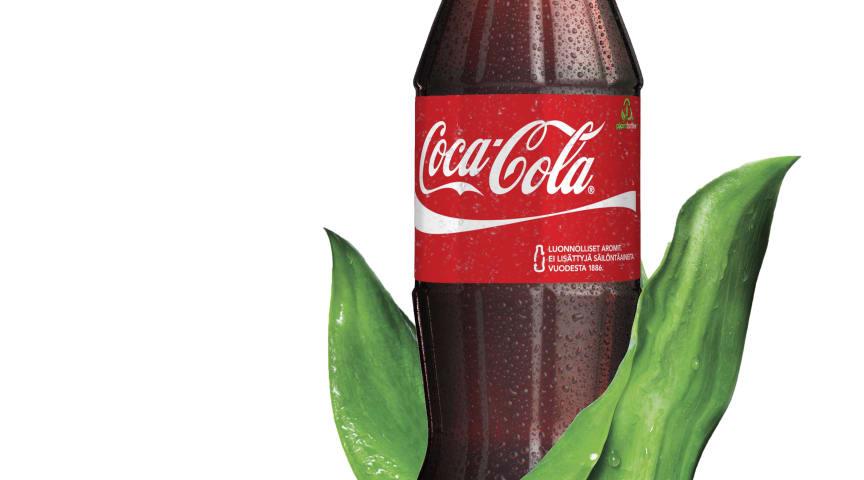 Coca-Cola Finland ja Sinebrychoff ottavat käyttöön kasvipohjaista muovia sisältävät virvoitusjuomapullot ensimmäisinä Suomessa