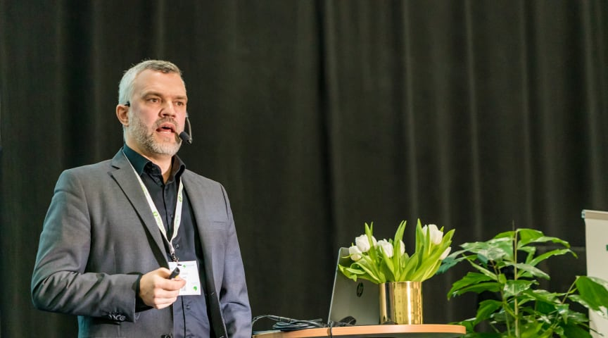 Erik Lewin talade på Säkerhet. Foto: Matt Robinson