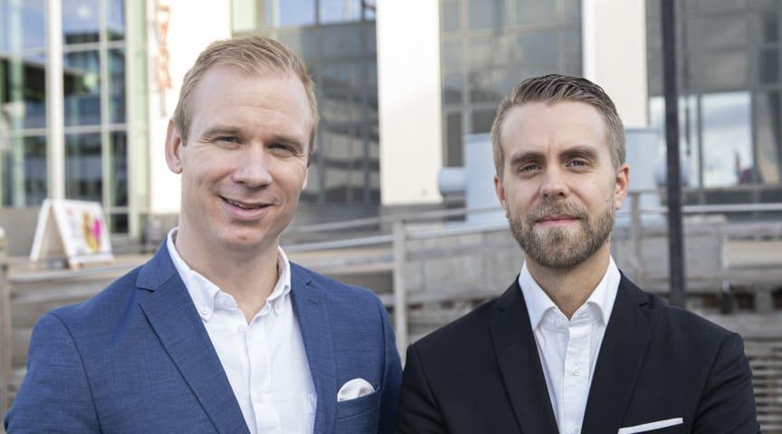 Från vänster: Thomas Skoglund och Karl Westberg. Foto: AddMobile AB