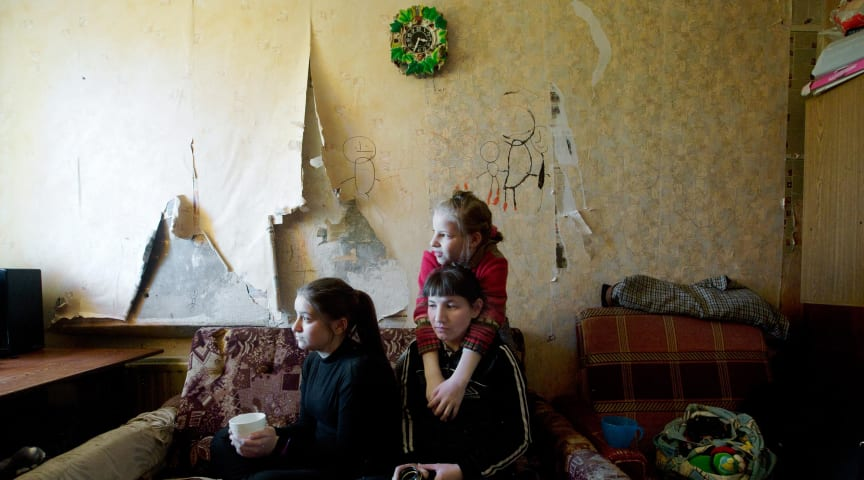 Für viele arme Familien in Osteuropa bedeutet Isolation wegen Corona auch Hunger. Foto: SOS-Kinderdörfer/Nina Ruud