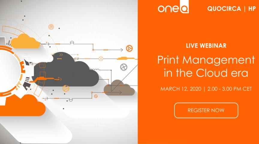 WEBINAR: Print Management in the Cloud era