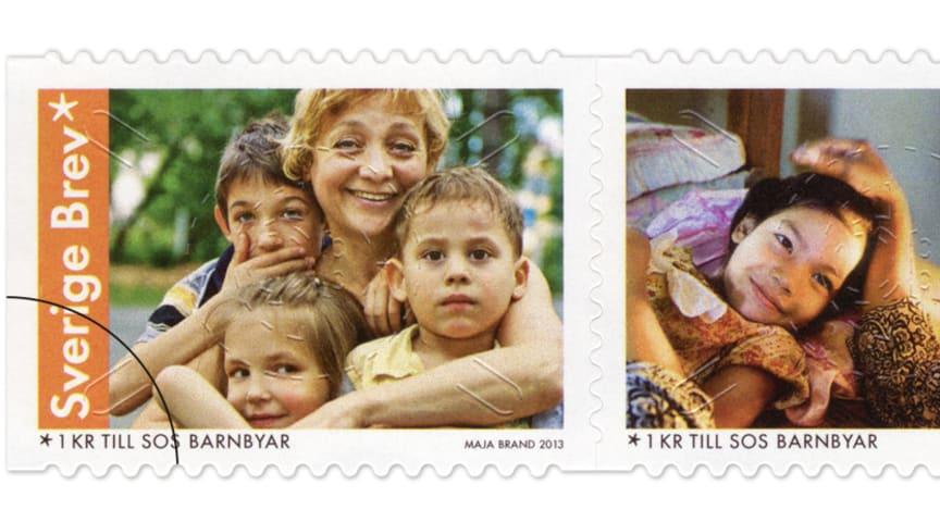 SOS Barnbyar pryder välgörenhetsfrimärket 2013