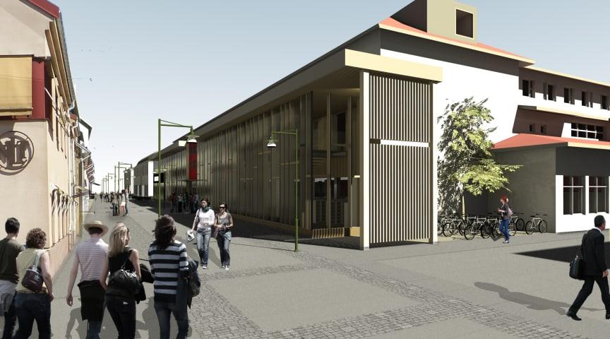 Nya biblioteket i Lidköping tar form
