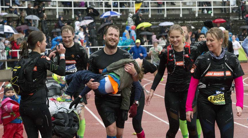 Målgång Stockholm Marathon 2015