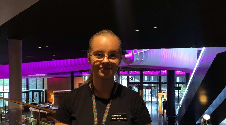 Hannah Jansson som läser Hotellutbildningen på Realgymnasiet i Stockholm.