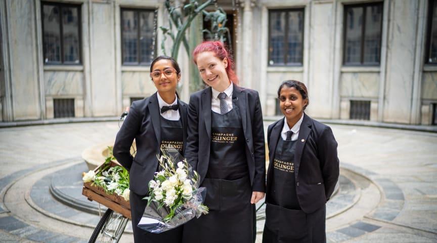 Förra årets finalister: Mio Bloom, Maja Hempel och Victoria Andersson