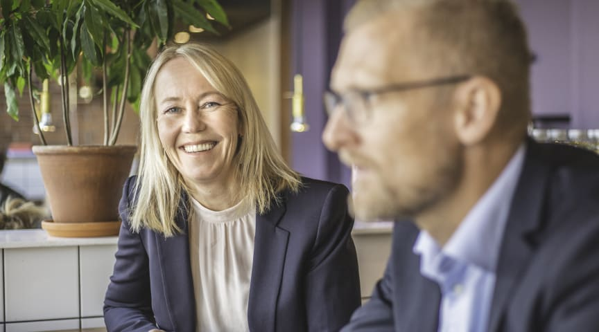 Kathrine Löfberg, chair of the board, and Lars Appelqvist, CEO, Löfbergs.