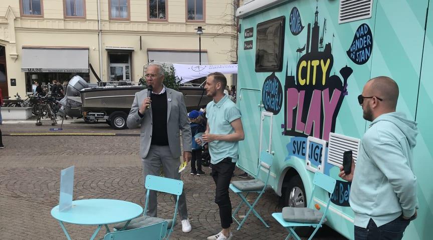 Intervju med Christoffer om Cityplay i Oskarshamn